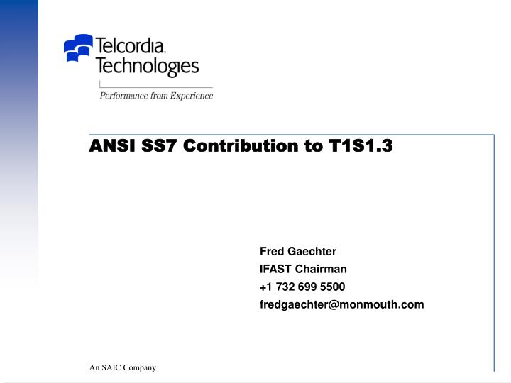 Ansi ss7 contribution to t1s1 3
