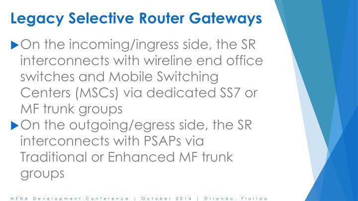 Legacy selective router gateways2