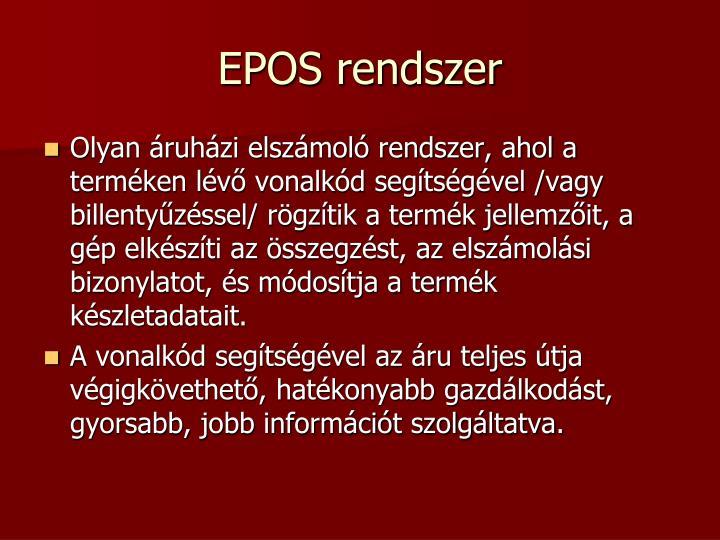 EPOS rendszer
