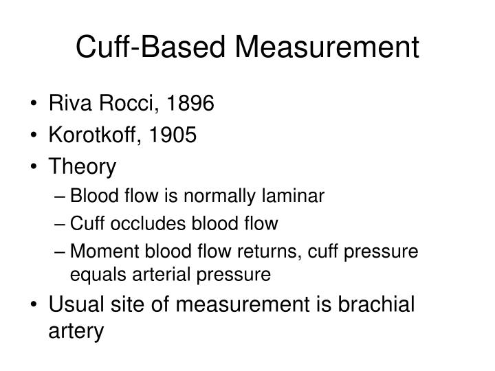 Cuff-Based Measurement