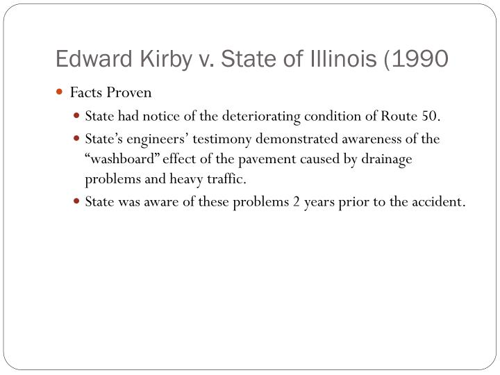 Edward Kirby v. State of Illinois (1990