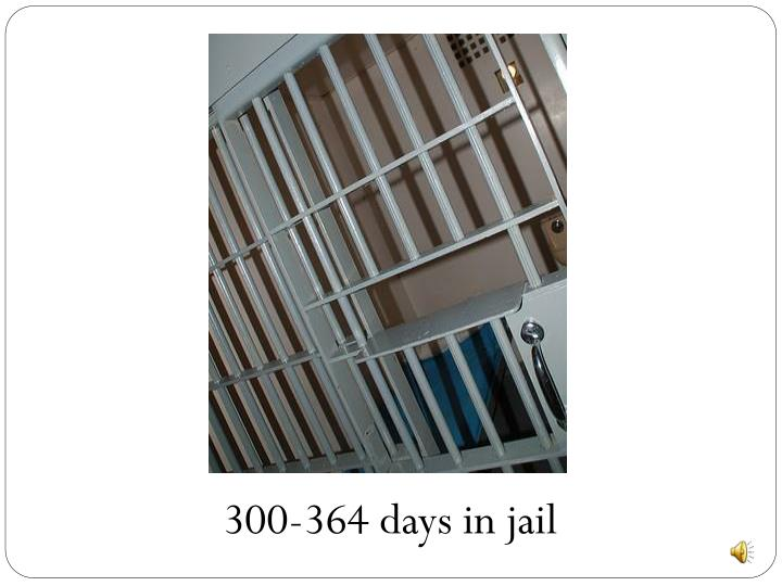 300-364 days in jail