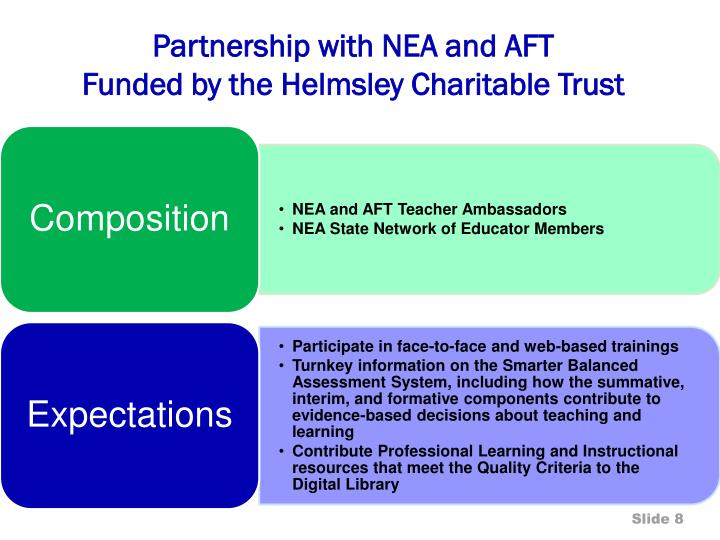 Partnership with NEA and AFT