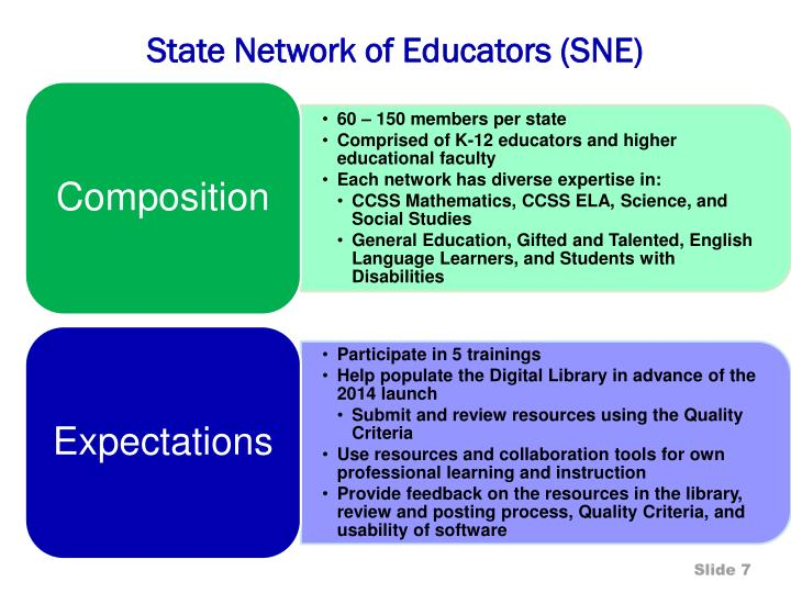 State Network of Educators (SNE)