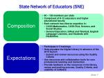 state network of educators sne