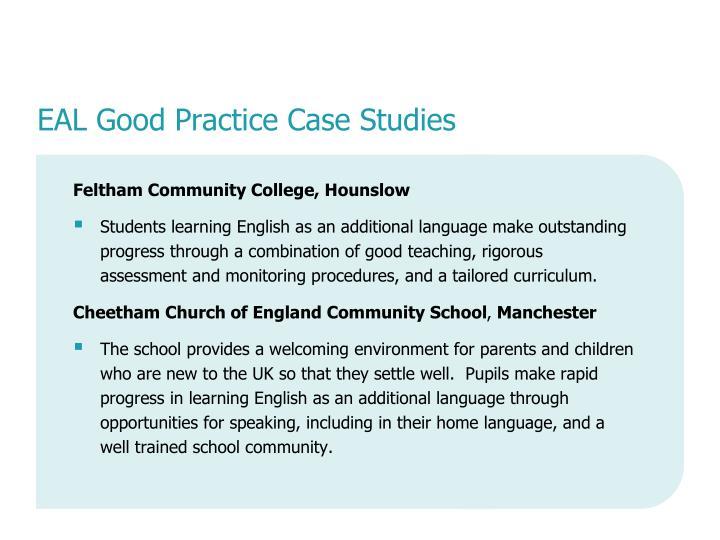 EAL Good Practice Case Studies