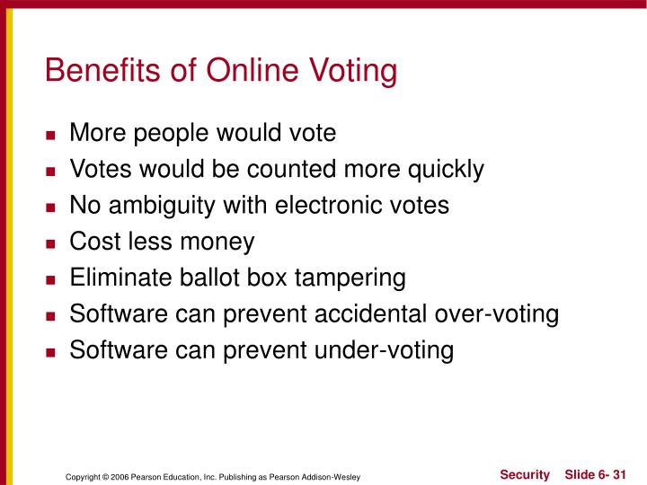 Benefits of Online Voting