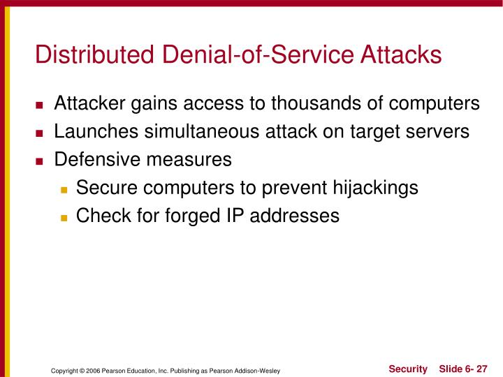 Distributed Denial-of-Service Attacks