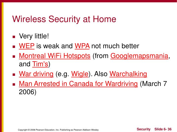 Wireless Security at Home