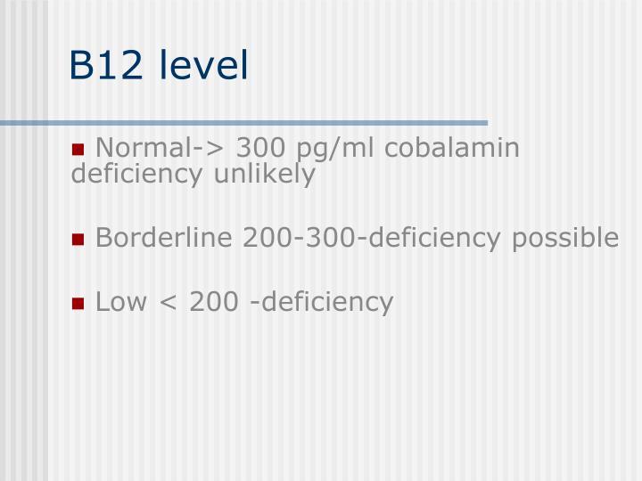 B12 level