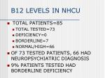 b12 levels in nhcu