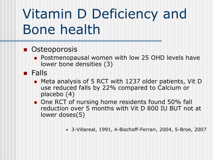Vitamin D Deficiency and Bone health