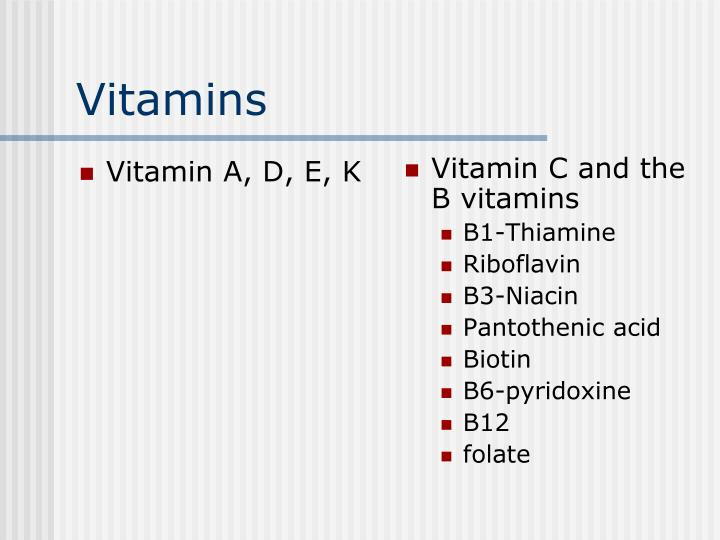Vitamin A, D, E, K