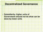 decentralized governance