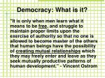 democracy what is it