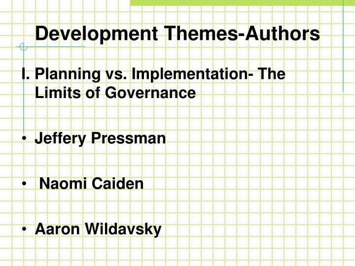Development Themes-Authors