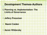 development themes authors