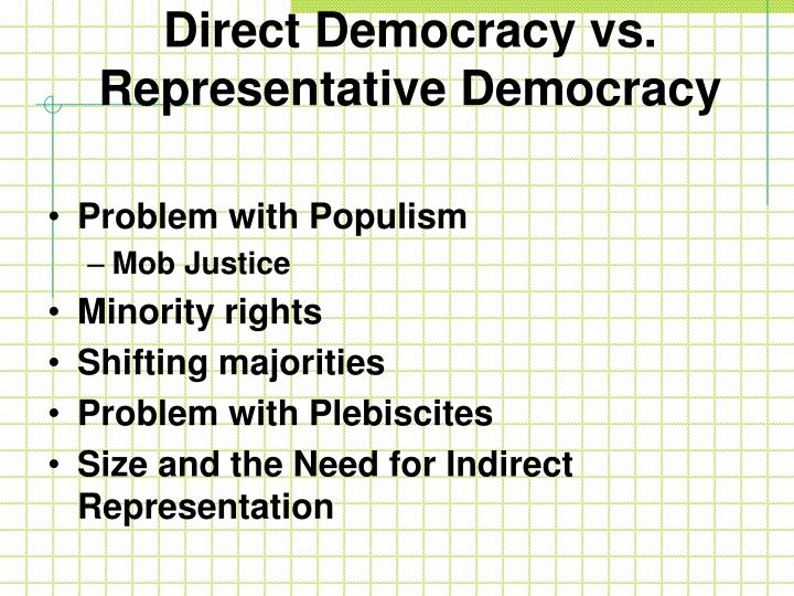 Direct Democracy vs.
