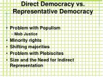 direct democracy vs representative democracy