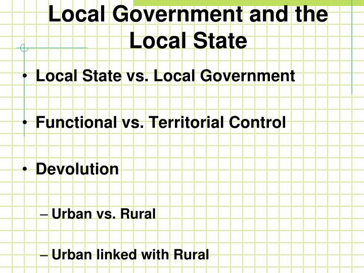 Local Government and the