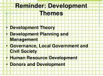 reminder development themes