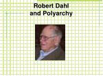 robert dahl and polyarchy