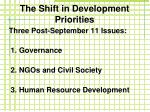the shift in development priorities