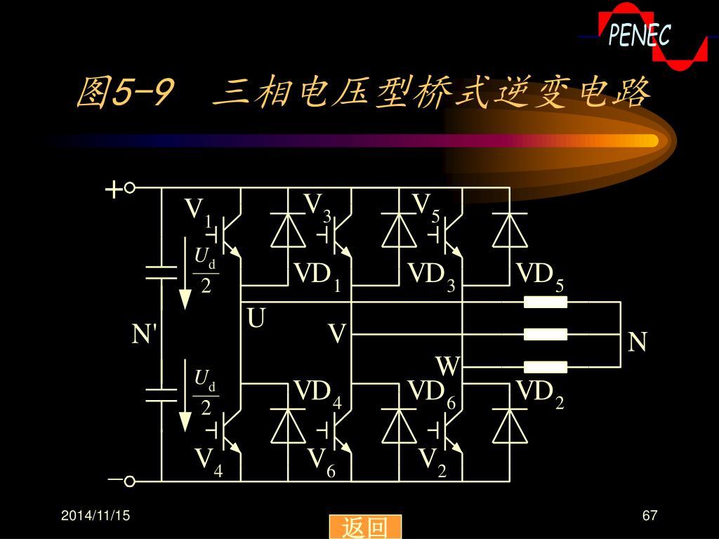 图5-9 三相电压型桥式逆变电路