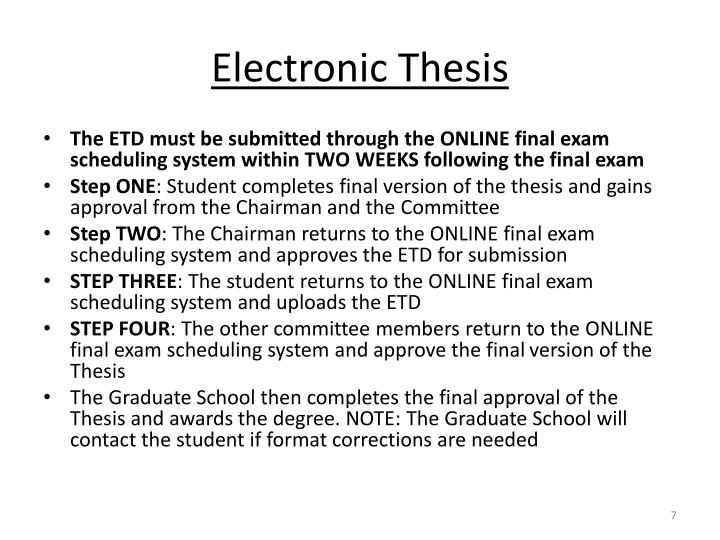 Electronic Thesis