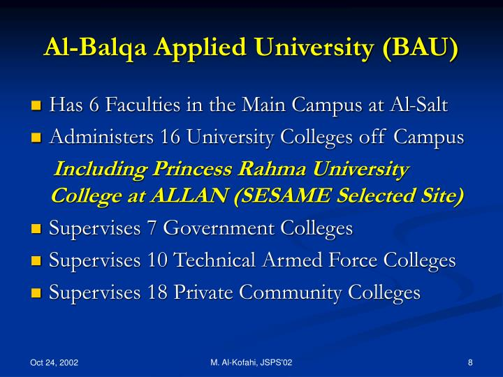 Al-Balqa Applied University (BAU)