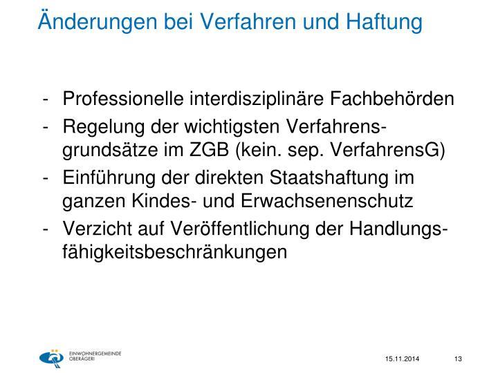 Änderungen bei Verfahren und Haftung