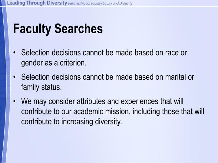 Faculty Searches
