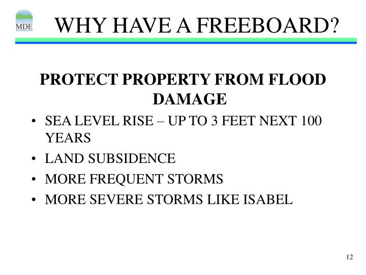 Why have a freeboard2