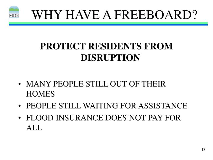 WHY HAVE A FREEBOARD?