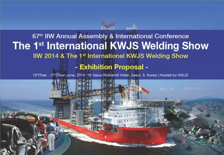 Introduction of iiw introduction of kwjs the 1 st international kwjs welding show