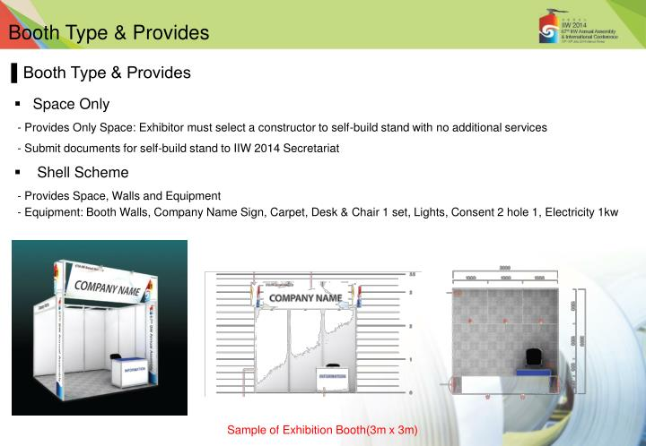 Booth Type & Provides