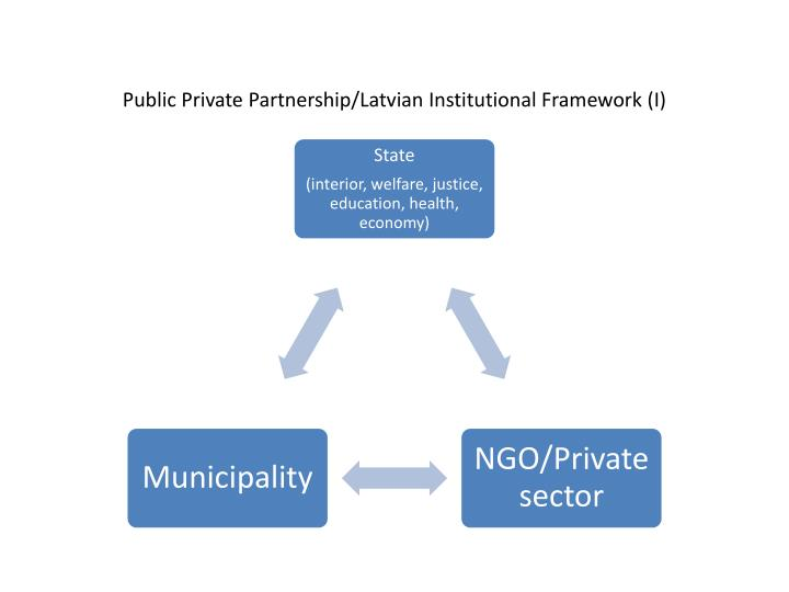 Public private partnership latvian institutional framework i