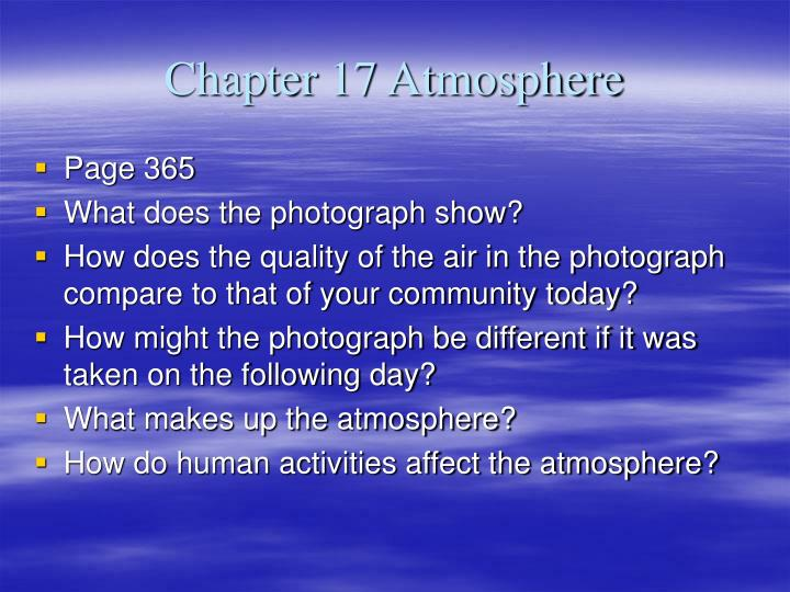 Chapter 17 atmosphere