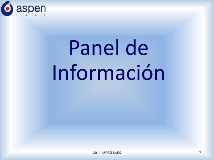 Panel de Información