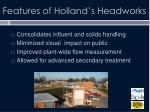 features of holland s headworks