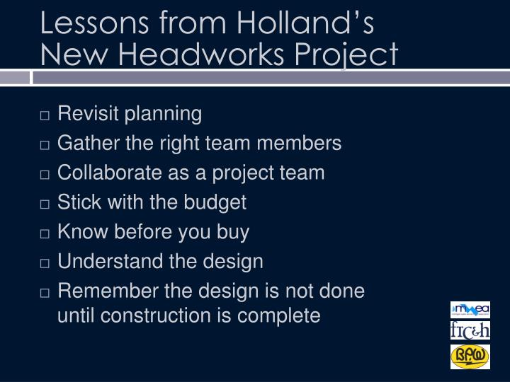 Lessons from Holland's