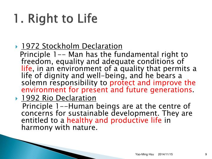 1. Right to Life