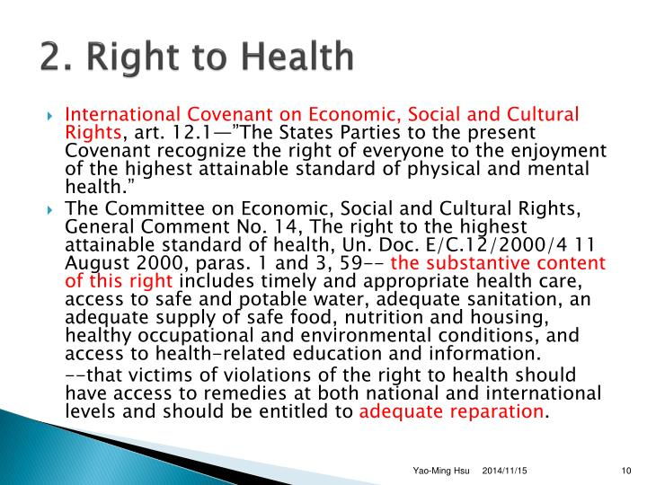 2. Right to Health