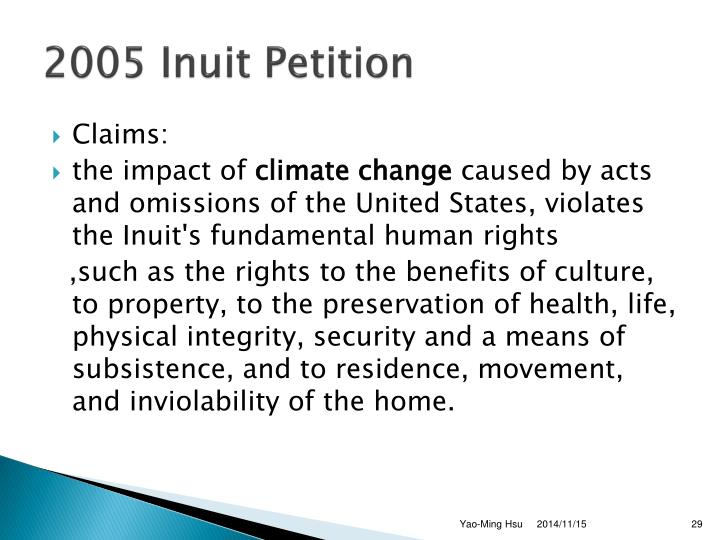 2005 Inuit Petition