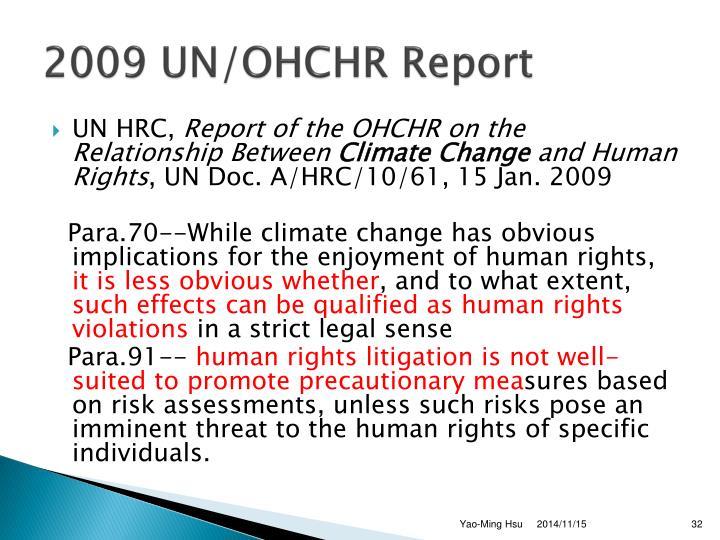 2009 UN/OHCHR Report