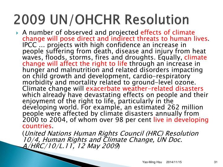 2009 UN/OHCHR Resolution