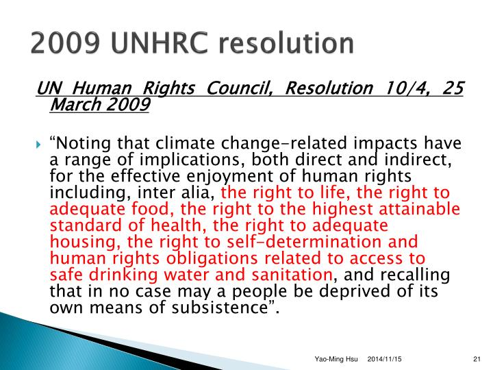 2009 UNHRC resolution