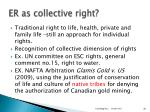 er as collective right
