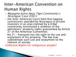inter american convention on human rights