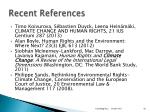 recent references